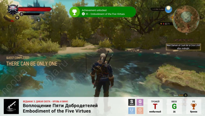 "Трофей ""Воплощение Пяти Добродетелей / Embodiment of the Five Virtues"" в The Witcher 3: Blood and Wine (Steam, GOG, PlayStation, Xbox)"