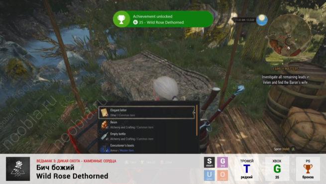 "Трофей ""Бич божий / Wild Rose Dethorned"" в The Witcher 3: Hearts of Stone (Steam, GOG, PlayStation, Xbox)"