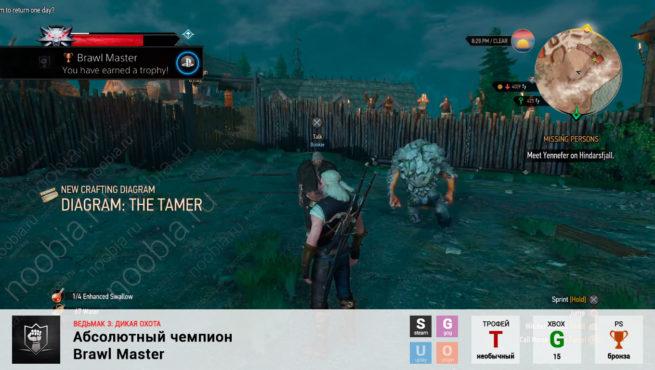 "Трофей ""Абсолютный чемпион / Brawl Master"" в The Witcher 3: Wild Hunt (Steam, GOG, PlayStation, Xbox)"
