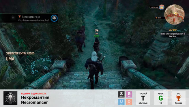 """Трофей """"Некромантия / Necromancer"""" в The Witcher 3: Wild Hunt (Steam, GOG, PlayStation, Xbox)"""