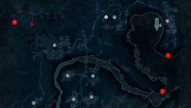 Assassin's Creed 3 карта побрякушек в Дэвенпорте