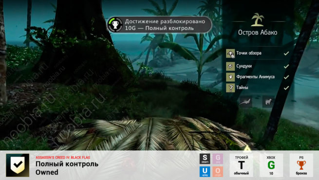 "Трофей ""Полный контроль / Owned"" в Assassin's Creed 4: Black Flag (Steam, Uplay, PlayStation, Xbox)"