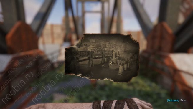 """Elex: выцветшее изображение с местоположением записки """"Четыре дома, часть 1"""" в Южном Таваре"""