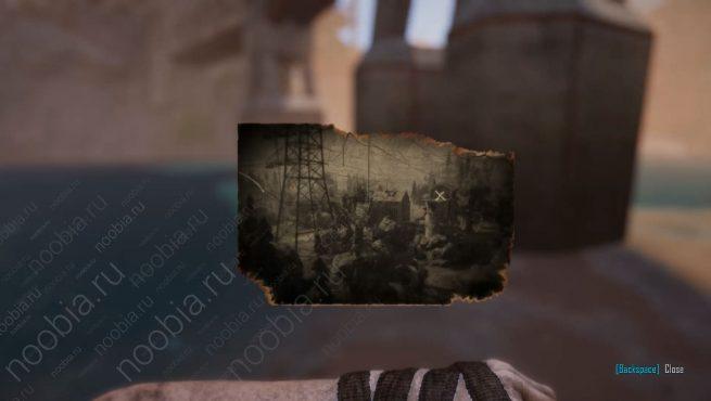 """Elex: выцветшее изображение с местоположением записки """"Четыре дома, часть 2"""" в Северном Эдане"""