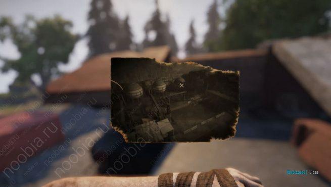 """Elex: выцветшее изображение с расположением записки """"Четыре дома, часть 4"""" в Западном Игнадоне"""