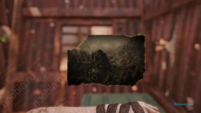 """Elex: выцветшее изображение с местоположением записки """"Четыре дома, часть 6"""" в Западном Эдане"""