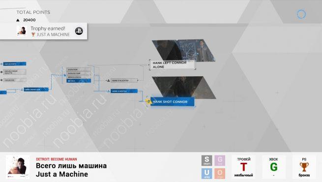 """Трофей """"Всего лишь машина / Just a Machine"""" в Detroit: Become Human (PlayStation)"""