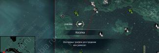 Assassin's Creed 4: карта с местами появления касаток в секторе форта Конттойор