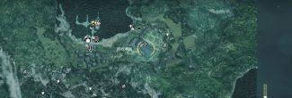 AC4: карта с расположением пиратского убежища на Большом Инагуа