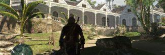 AC4: улучшение убежища на Большом Инагуа - восстановленное поместье на холме