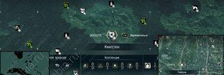 Assassin's Creed 4: карта с местоположением таверны в Кингстоне