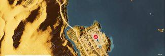 """Assassin's Creed: Origins: карта с местоположением второго папируса """"Плодородные земли / Fertile Lands"""" на Озере Мареотис"""