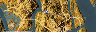 """Assassin's Creed: Origins: карта с тайником из головоломки """"Разделенная долина / Divided Valley"""" в номе Сап-мех"""