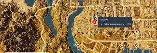 "Assassin's Creed: Origins: карта с местоположением четвертого папируса ""Каменный взор / The Stone Gaze"" в Александрии"