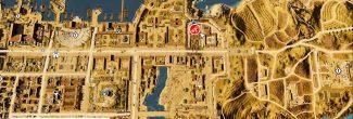 """Assassin's Creed: Origins: карта с местоположением пятого папируса """"Путь природы / Nature's Way"""" в Александрии"""