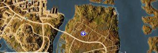 """Assassin's Creed: Origins: карта с тайником из головоломки """"Путь природы / Nature's Way"""" в номе Канопус"""
