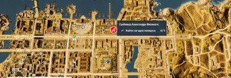 """Assassin's Creed: Origins: карта с местоположением шестого папируса """"Луч надежды / Ray of Hope"""" в Александрии"""