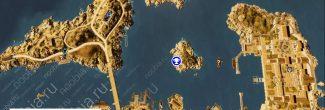"""Assassin's Creed: Origins: карта с тайником из головоломки """"Оглушительная тишина / Deafening Silence"""" в Александрии"""