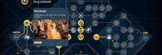 """Assassin's Creed: Origins: навык """"Элитный рейнджер / Elite Ranger"""" для замедления времени в воздухе с луком в руках"""