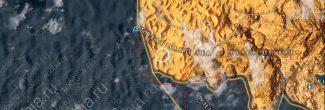 Assassin's Creed: Origins: карта с местами возникновения миражей и случайных событий в Великой и Белой пустынях Древнего Египта