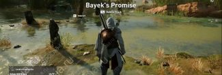 """Assassin's Creed: Origins: начало прохождения задания """"Обещание Байека"""" по поиску каменных кругов"""