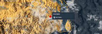 Assassin's Creed: Origins: карта с местоположением Сфинкса в Гизе