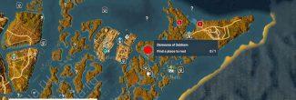 Assassin's Creed: Origins: карта с убежищем отшельника в номе Гераклион