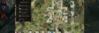 Divinity: Original Sin 2: карта с местоположением Оружейной Бракка в руинах замка на острове Глаз Жнеца