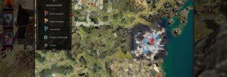 Divinity: Original Sin 2: карта с местоположением пещеры Радеки и зимнего дракона Слейна на Драконьем пляже