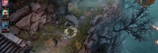 """Divinity: Original Sin 2: говорящая трава с костями Криспина рядом с телепортом """"Погост"""""""