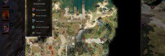 Divinity: Original Sin 2: карта с местоположением ведьмы Виндего и маски Фейна на берегу озера за Фортом Радость