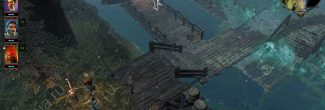 Divinity: Original Sin 2: Мертвый паромщик на пристани озера у острова Кровавой Луны