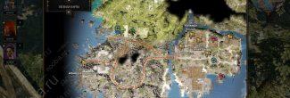 Divinity: Original Sin 2: карта с местоположением Пещеры кораблекрушителей на Побережье Жнеца