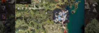 Divinity: Original Sin 2: карта с местоположением логова Радеки на Драконьем пляже
