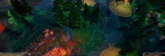 Dungeons 3: дорожка с фонарями по пути к Твистраму