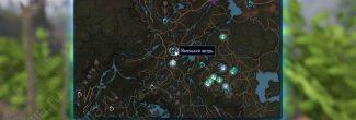 """Elex: карта с местоположением записки """"Четыре дома, часть 2"""" в Северном Эдане"""