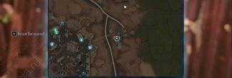 """Elex: карта с местоположением записки """"Четыре дома, часть 5"""" в Форте"""