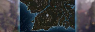 """Elex: карта с местоположением записки """"Четыре дома, часть 6"""" в Западном Эдане"""