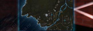 """Elex: карта с расположением записки """"Четыре дома, часть 9"""" в Западном Эдане"""