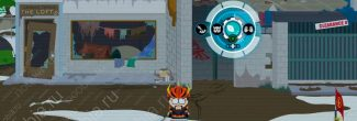 South Park: The Fractured But Whole: подъем на здание в лагере бездомных (SoDoSoPa)