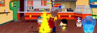 """South Park: The Fractured But Whole: сражение с Морганом Фрименом для получения достижения """"Пердёж против веснушек"""""""
