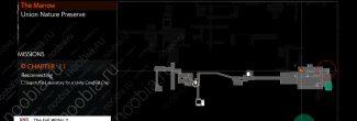 """The Evil Within 2: карта с местоположением шестого красного геля в морге в локации """"Сеть"""" в одиннадцатой главе"""