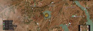The Witcher 3: Blood and Wine: карта с местоположением озера Селави с Отшельником и Арондитом