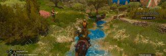 The Witcher 3: Blood and Wine: второе испытание турнира - полоса препятствий с мишенями и чучелами